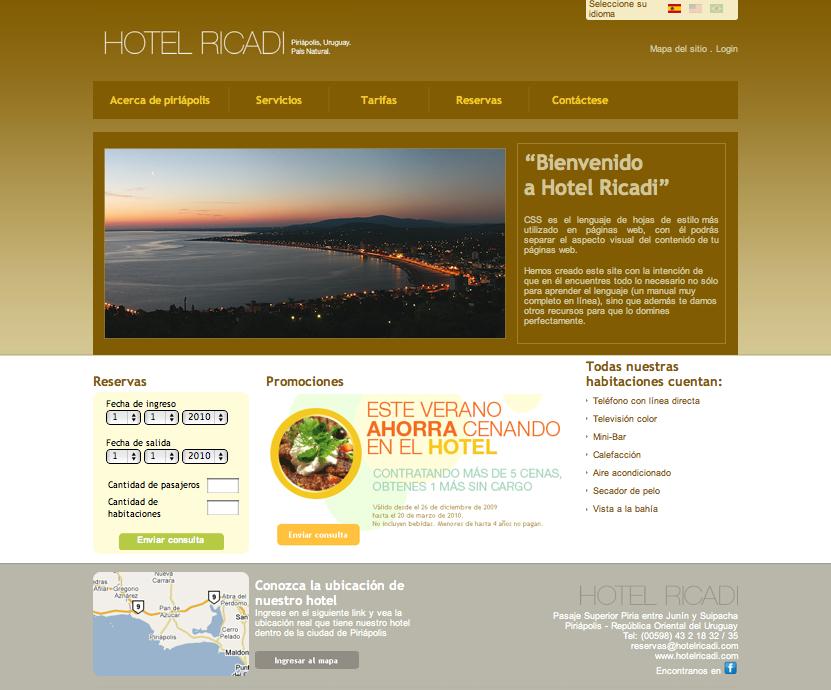 Hotel's website
